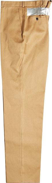 Cotton Chinos With Tape