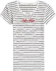 All's Fair Embroidered Cotton T Shirt