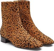 Aslen Animal Print Ankle Boots