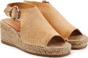 Calla Suede And Raffia Wedges