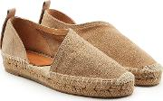 Delos Suede Espadrilles With Cut Out Side