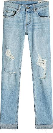 Dre Capri Distressed Jeans