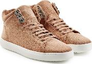 Kent High Top Suede Sneakers