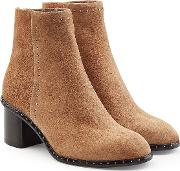 Willow Embellished Suede Ankle Boots