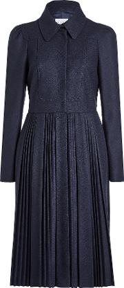 Coat With Pleated Skirt