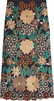 Red Valentino Embroidered Skirt