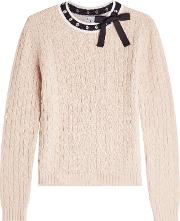 Wool Pullover With Embellishment