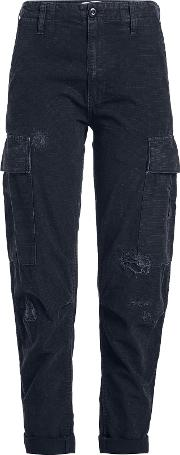 Distressed Cargo Pants