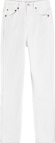 Double Needle Cropped Jeans