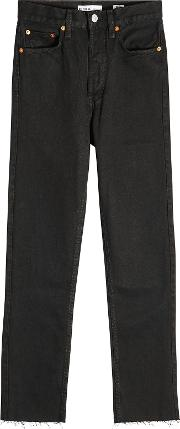 High Waisted Stovepipe Jeans