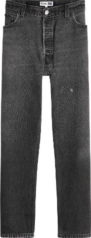 Redone High Rise Crop Jeans