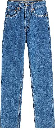 Stovepipe High Waisted Cropped Jeans