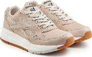 Leather Sneakers With Suede