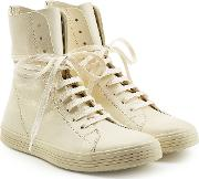 Leather Ankle Boot Sneakers