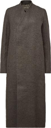 Museum Coat With Camel Hair And Linen