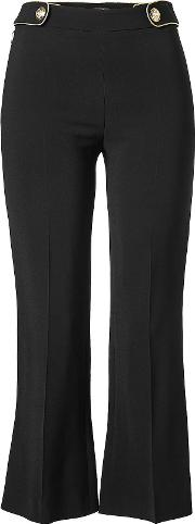 Cropped Pants With Flared Ankles
