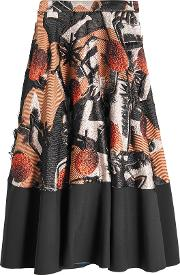 Embroidered Skirt With Silk