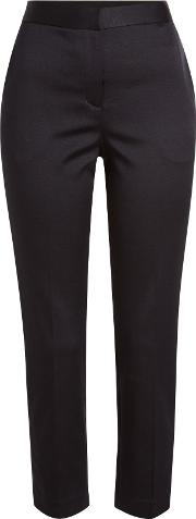 Cropped Skinny Cotton Pants