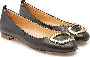 New Vedette Leather Ballerinas