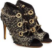 Nightingale Venus Suede Pumps With Chains