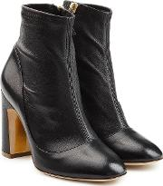 Stretch Leather Metta Booties