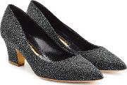 Textured Leather Pumps