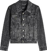 Denim Jacket With Embroidered Reverse