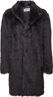 Faux Fur Coat With Mohair And Wool