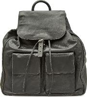 Leather Backpack With Distressed Detail