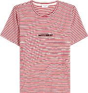 Striped T Shirt With Logo