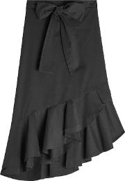 Cotton Skirt With Ruffles And Bow