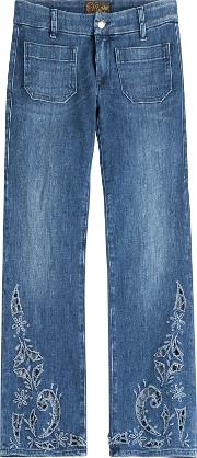 Lord Jim Cropped Jeans With Cut Out Detail