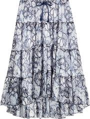 See By Chloe Cotton Silk Printed Skirt