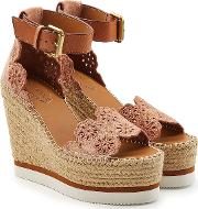 See By Chloe Espadrille Wedges With Leather And Suede