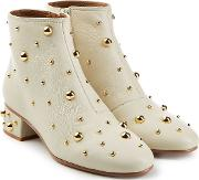 See By Chloe Jarvis Embellished Leather Ankle Boots