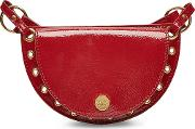 See By Chloe Patent Leather Shoulder Bag With Embellishment
