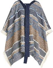 See By Chloe Poncho With Cotton And Wool