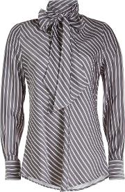 See By Chloe Striped Ascot Tie Blouse