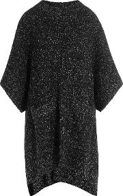See By Chloe Two Tone Knit Poncho