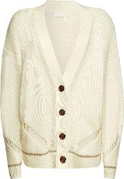 See By Chloe Wool Cardigan With Metallic Trim