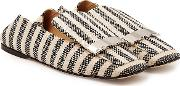 Printed Fabric Loafers