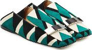 Printed Suede Loafers