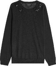 Embellished Pullover With Merino Wool, Silk And Cashmere