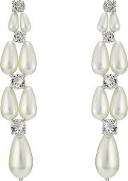 Pearl And Crystal Embellished Earrings