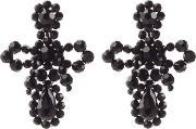 Small Bow Drop Bead Embellished Earrings