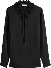 Crepe Blouse With Ruffles