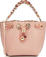 Romy Mini Flower Leather Bucket Bag