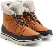 Cozy Carnival Suede And Rubber Short Boots