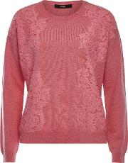 Cashmere Pullover With Lace