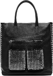 Embellished Leather Tote